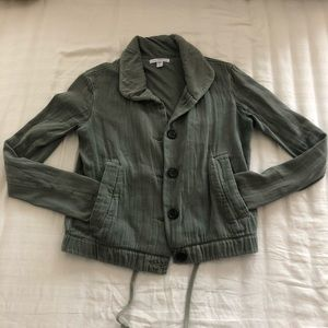 James Perse Casual Olive Jacket - Sz 0